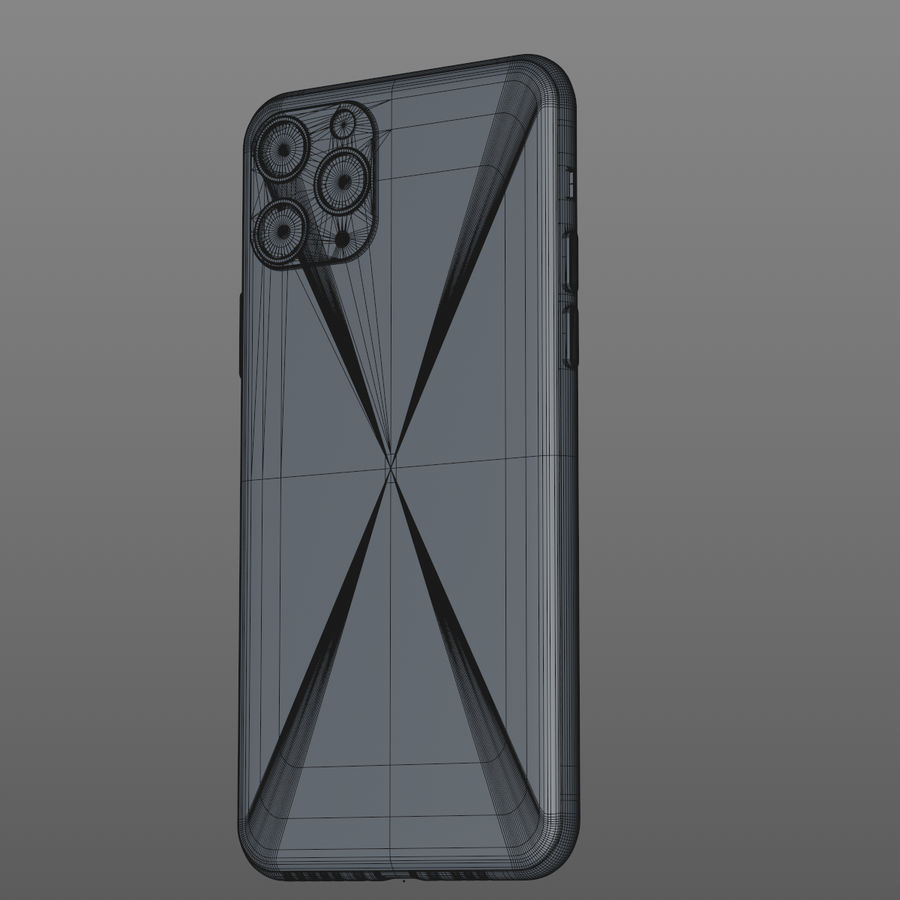 iPhone 11 Pro royalty-free 3d model - Preview no. 19