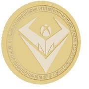 botxcoin gold coin 3d model