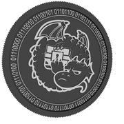 dragonchain black coin 3d model
