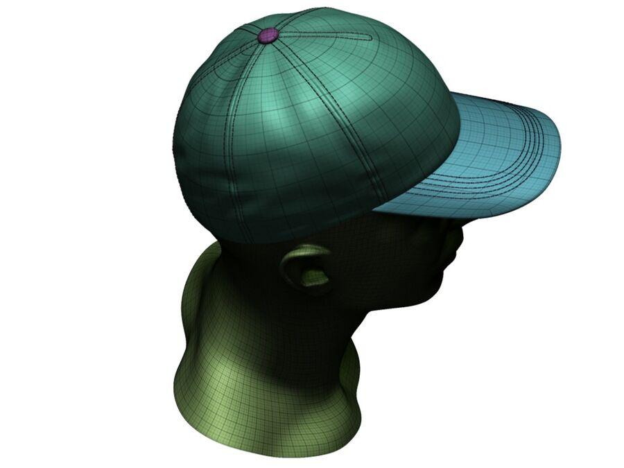 Boné de beisebol alto e baixo poli royalty-free 3d model - Preview no. 24