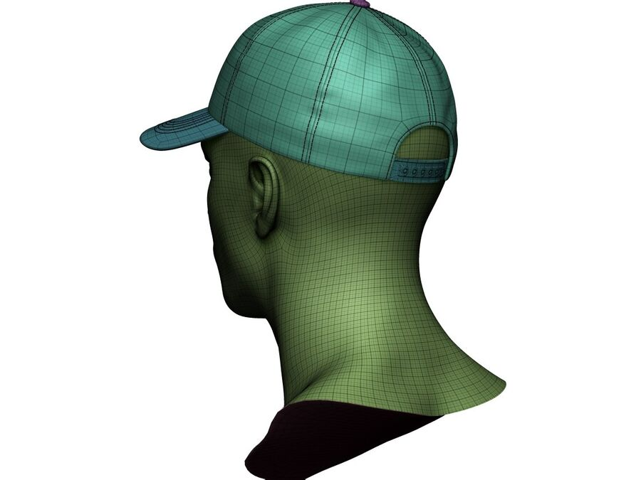 Boné de beisebol alto e baixo poli royalty-free 3d model - Preview no. 21