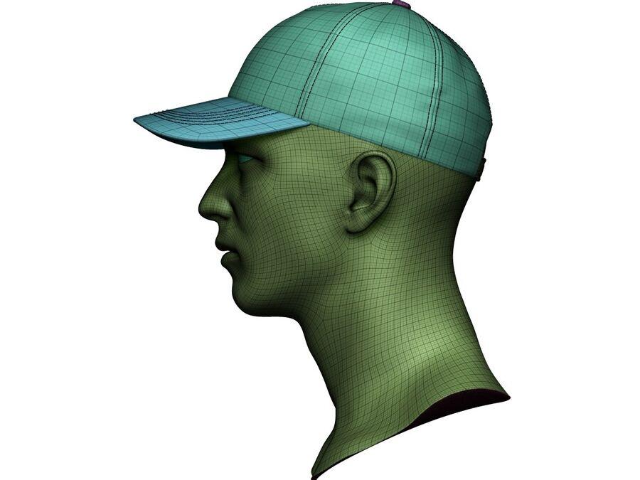 Boné de beisebol alto e baixo poli royalty-free 3d model - Preview no. 20