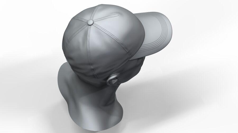 Boné de beisebol alto e baixo poli royalty-free 3d model - Preview no. 7