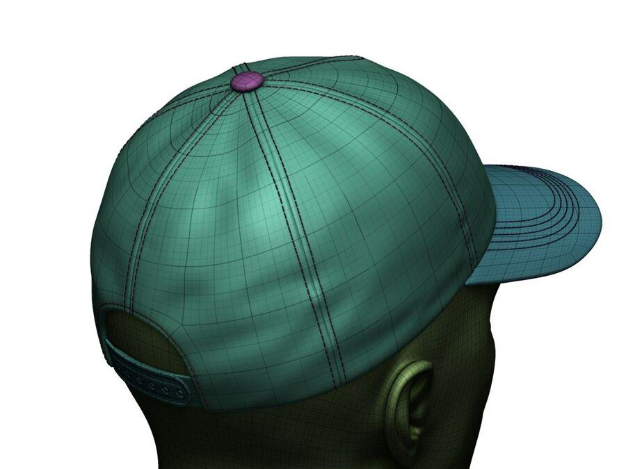 Boné de beisebol alto e baixo poli royalty-free 3d model - Preview no. 23
