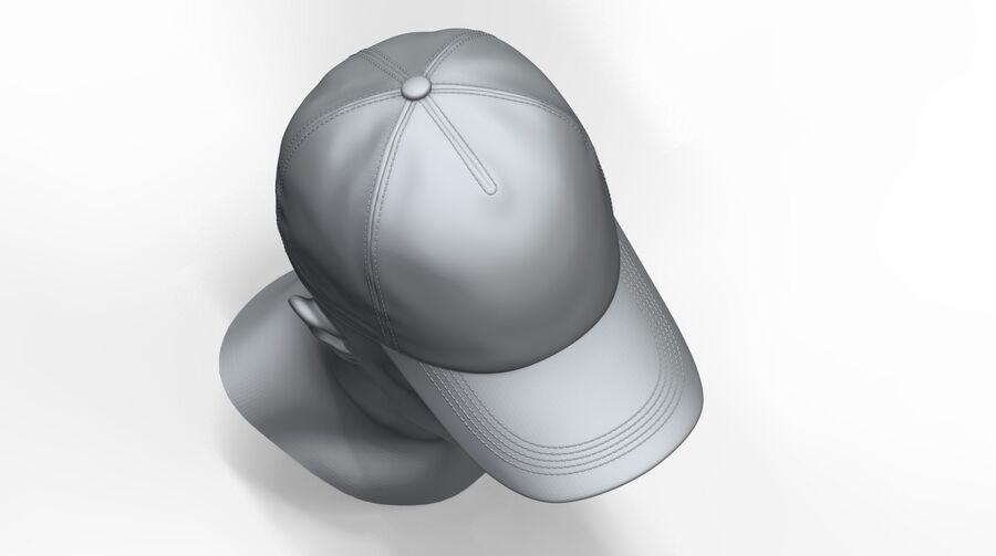 Boné de beisebol alto e baixo poli royalty-free 3d model - Preview no. 8