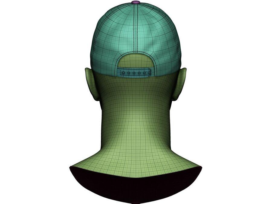 Boné de beisebol alto e baixo poli royalty-free 3d model - Preview no. 22