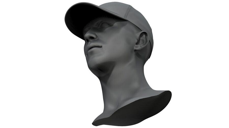 Boné de beisebol alto e baixo poli royalty-free 3d model - Preview no. 10