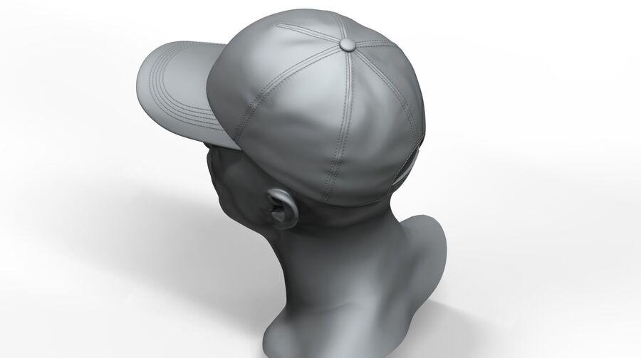 Boné de beisebol alto e baixo poli royalty-free 3d model - Preview no. 5