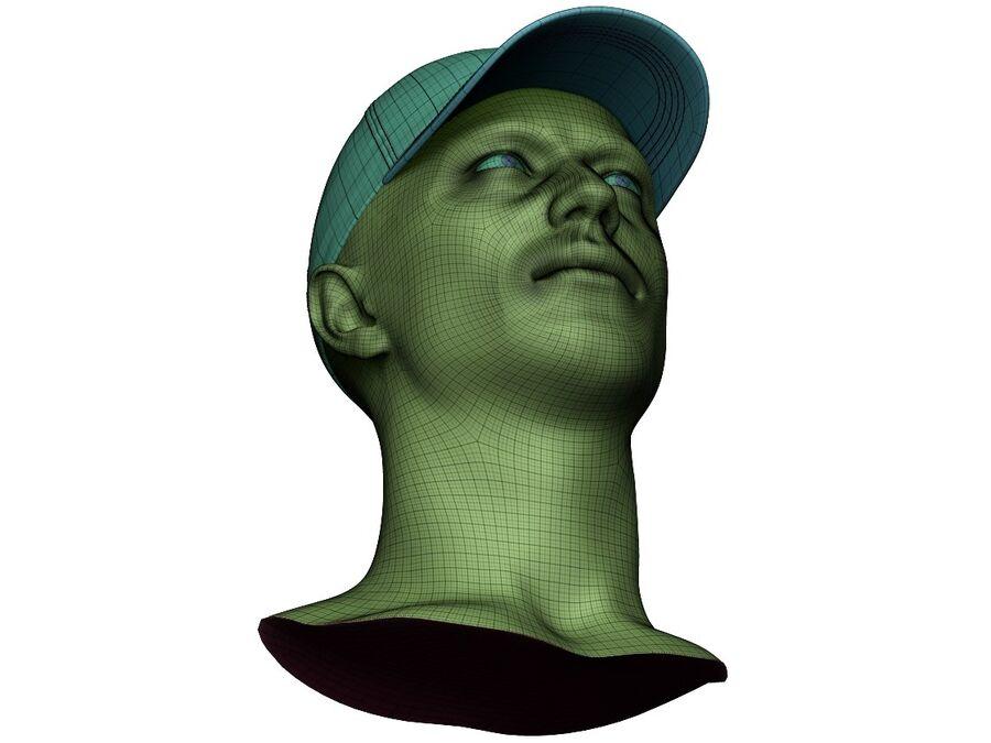 Boné de beisebol alto e baixo poli royalty-free 3d model - Preview no. 25