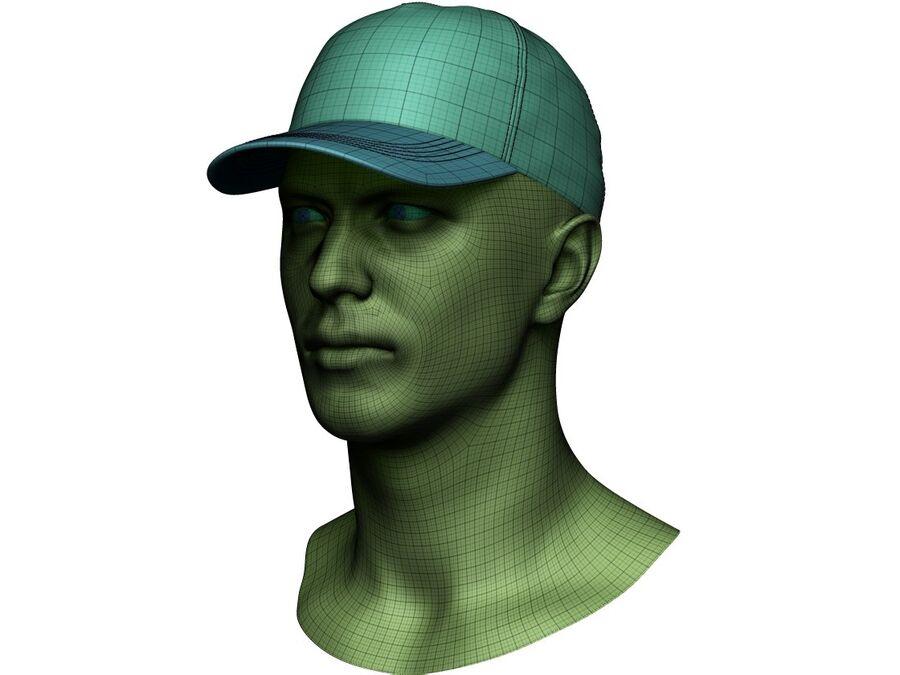 Boné de beisebol alto e baixo poli royalty-free 3d model - Preview no. 19