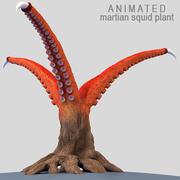 Martian squid plant 3d model