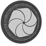 wysokiej jakości czarna moneta blockchain 3d model