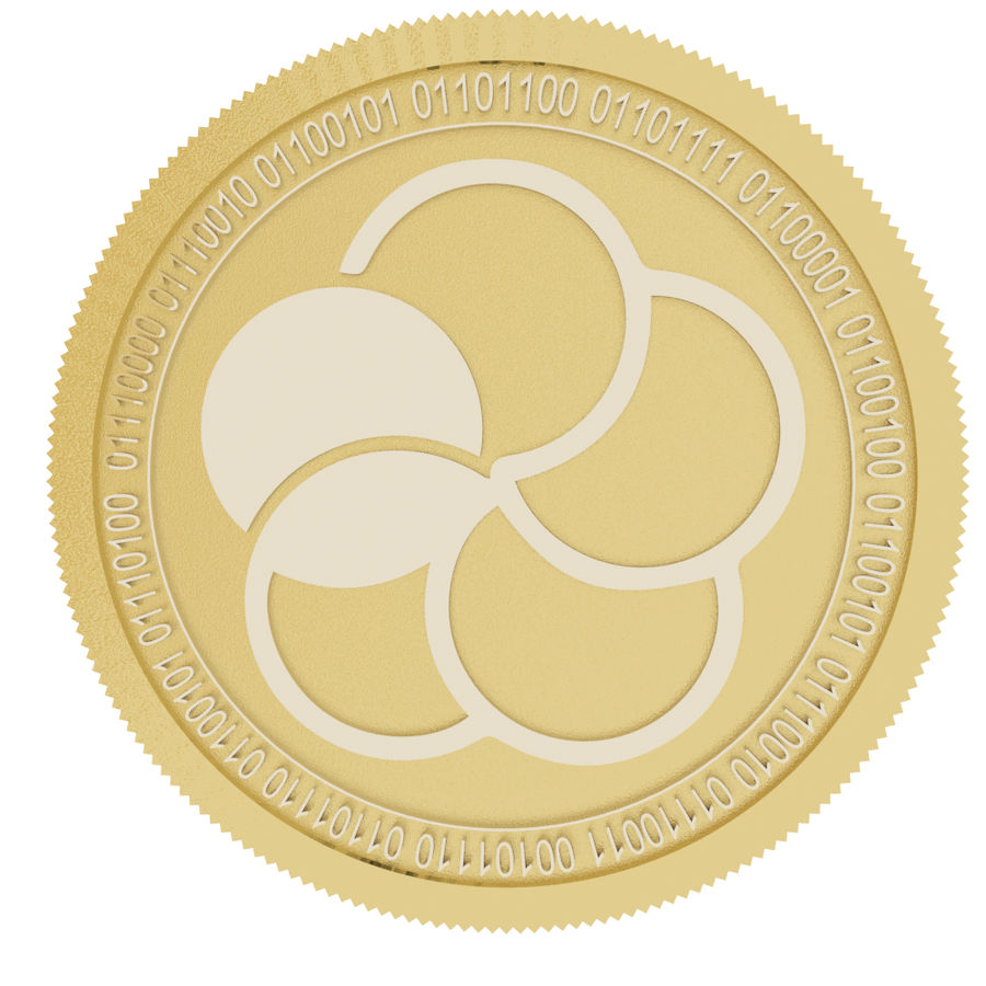 japan content gold coin royalty-free 3d model - Preview no. 2