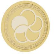 japan content gold coin 3d model