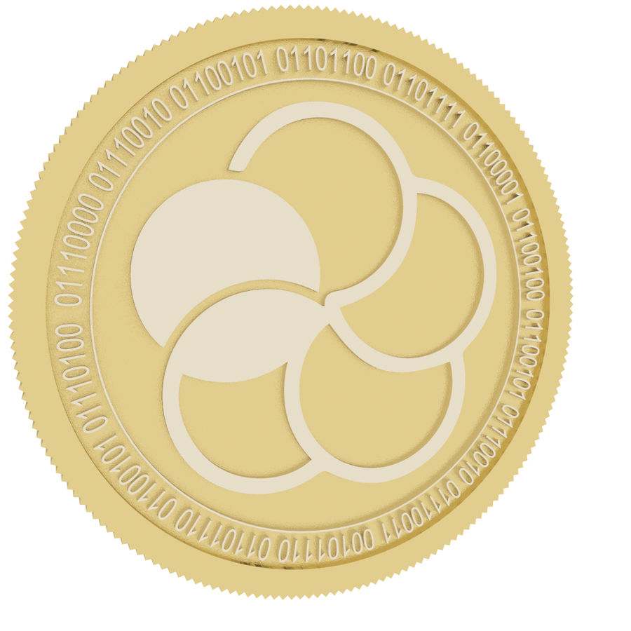 japan content gold coin royalty-free 3d model - Preview no. 1