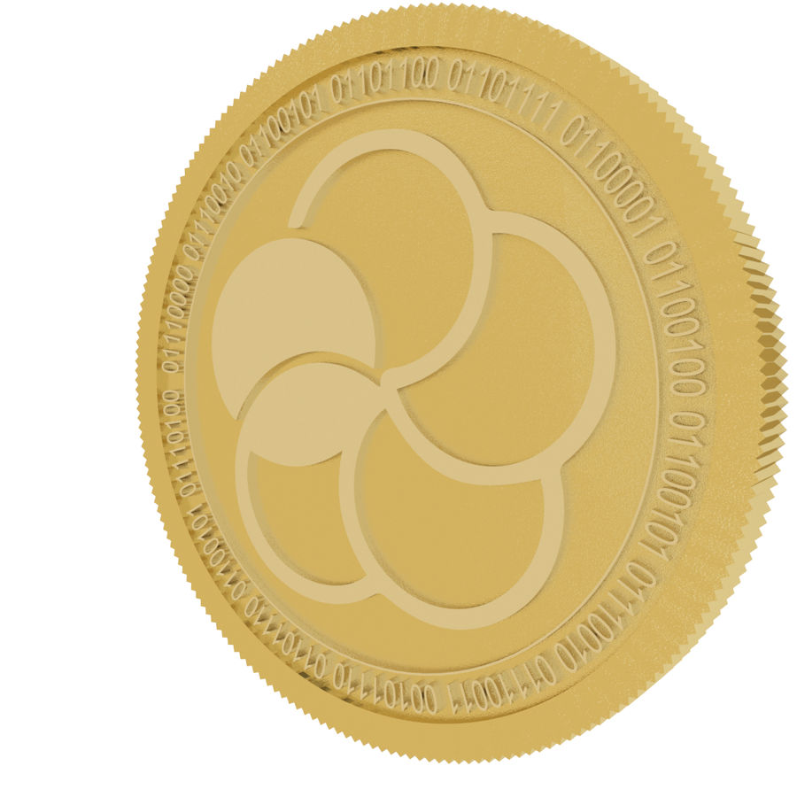 japan content gold coin royalty-free 3d model - Preview no. 3