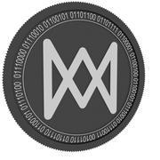 moneta blaxk z łańcuchem kwarkowym 3d model