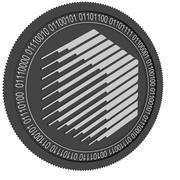 ren svart mynt 3d model