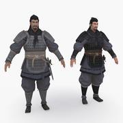 Средневековый Китай персонаж 005 3d model