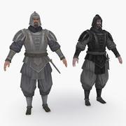 Средневековый Китай персонаж 006 3d model