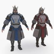 Medieval China character 007 3d model