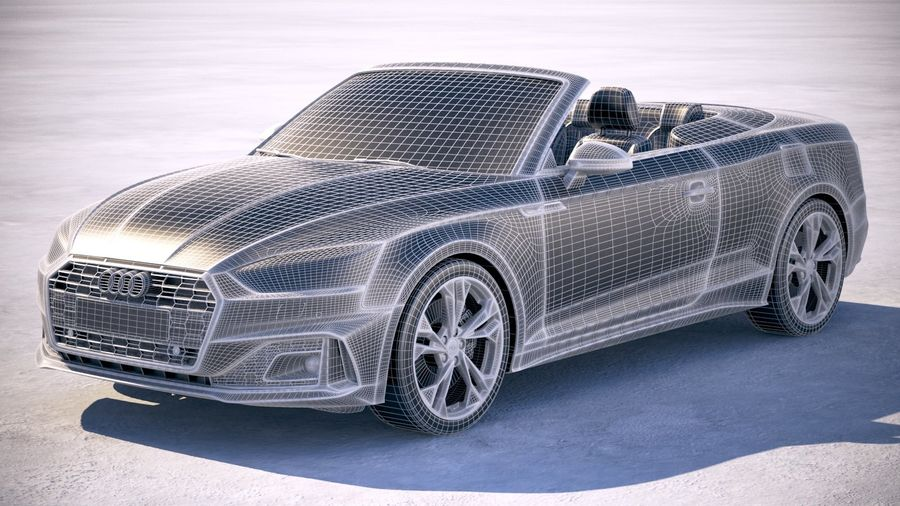 Audi A5 Cabrio 2020 royalty-free 3d model - Preview no. 25