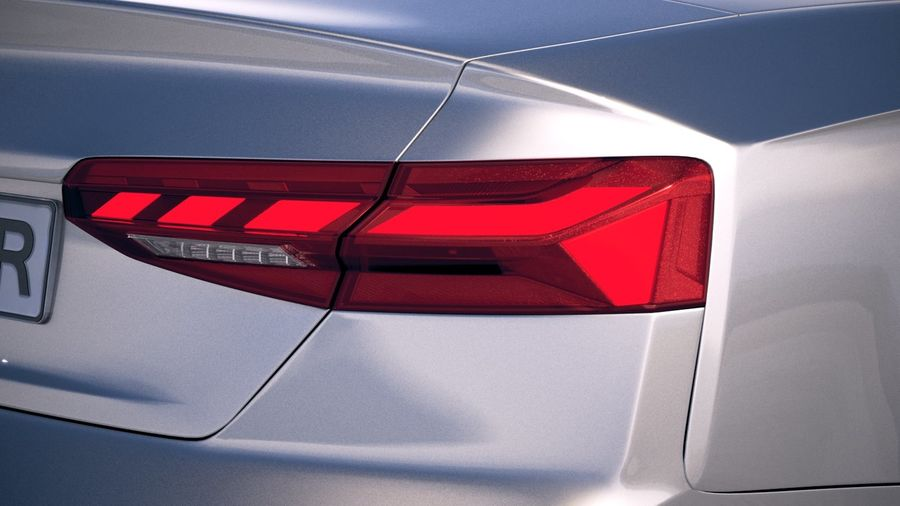 Audi A5 Cabrio 2020 royalty-free 3d model - Preview no. 17