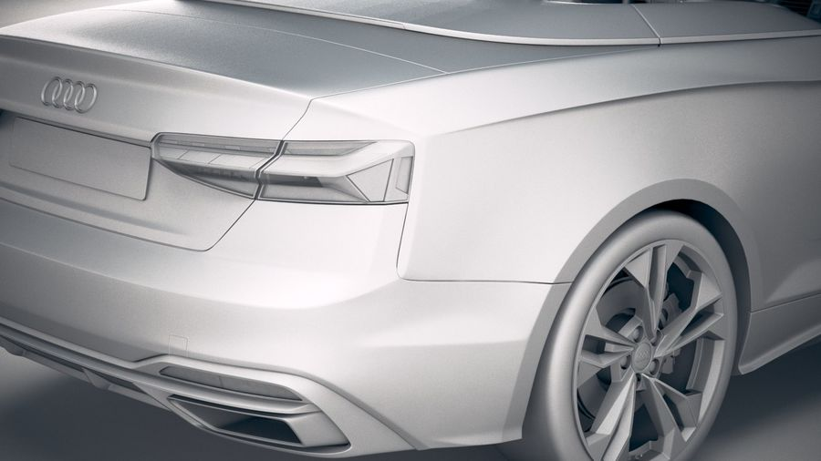Audi A5 Cabrio 2020 royalty-free 3d model - Preview no. 20