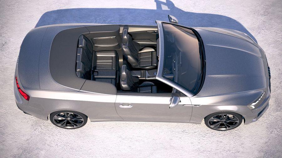Audi A5 Cabrio 2020 royalty-free 3d model - Preview no. 8