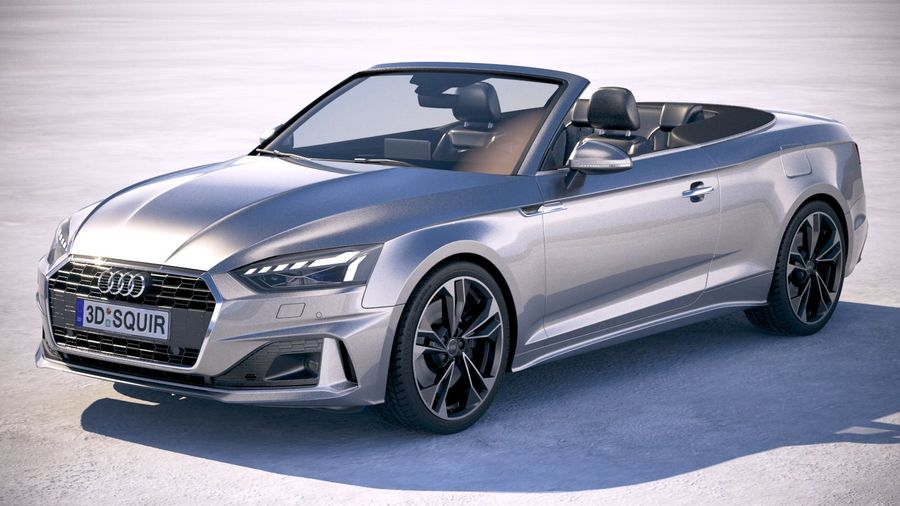 Audi A5 Cabrio 2020 royalty-free 3d model - Preview no. 1
