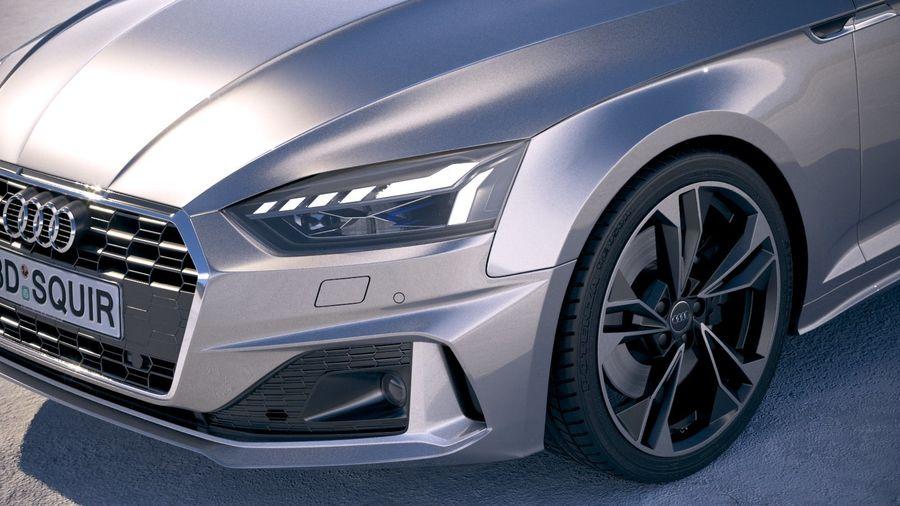Audi A5 Cabrio 2020 royalty-free 3d model - Preview no. 3