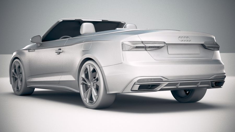 Audi A5 Cabrio 2020 royalty-free 3d model - Preview no. 24