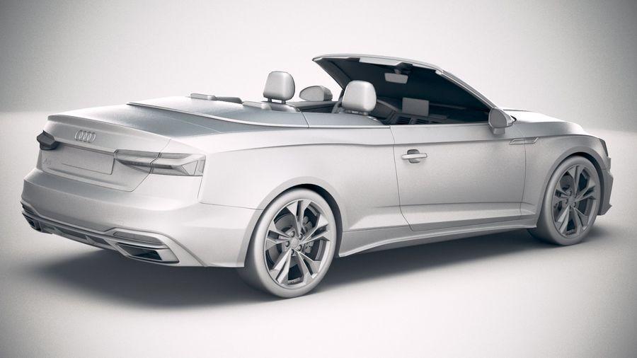 Audi A5 Cabrio 2020 royalty-free 3d model - Preview no. 21
