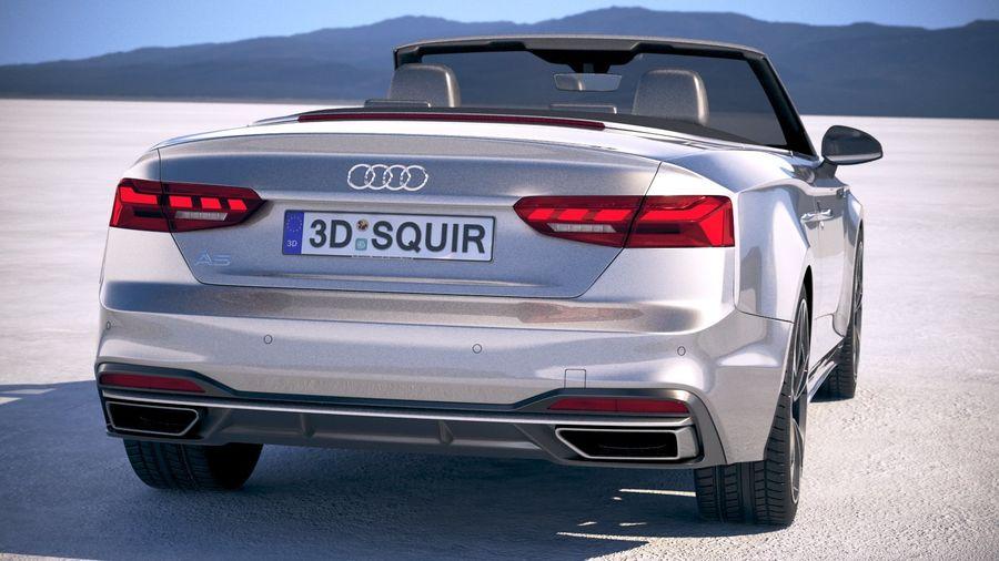 Audi A5 Cabrio 2020 royalty-free 3d model - Preview no. 6
