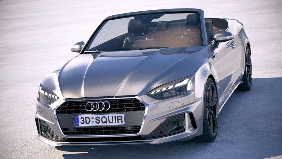 Audi A5 Cabrio 2020 royalty-free 3d model - Preview no. 2