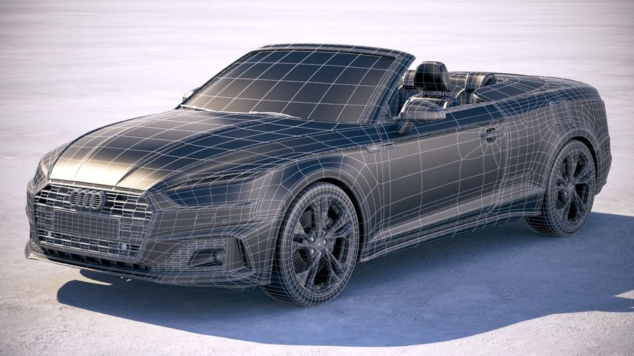 Audi A5 Cabrio 2020 royalty-free 3d model - Preview no. 27