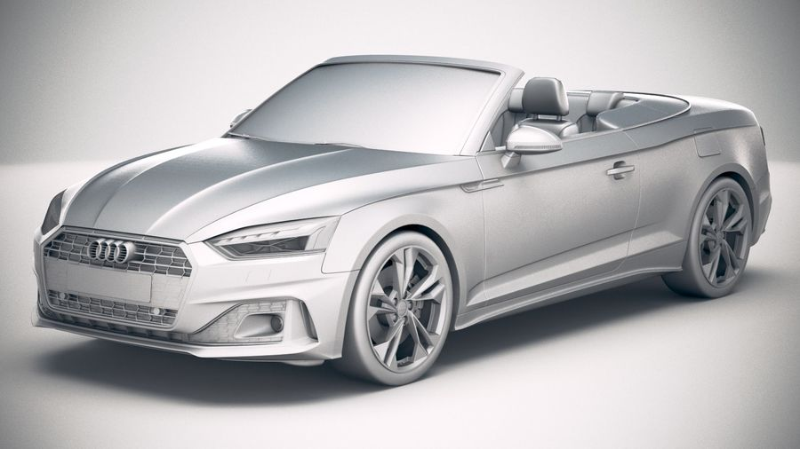 Audi A5 Cabrio 2020 royalty-free 3d model - Preview no. 18