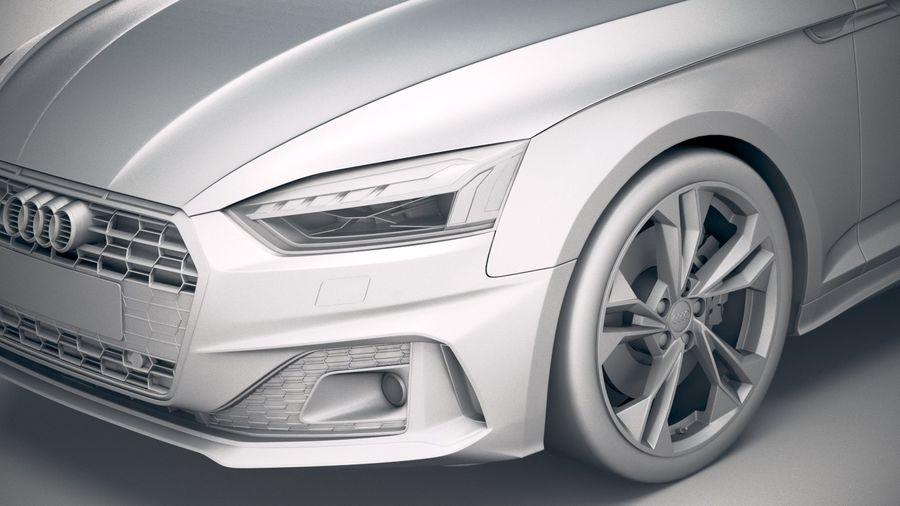 Audi A5 Cabrio 2020 royalty-free 3d model - Preview no. 19