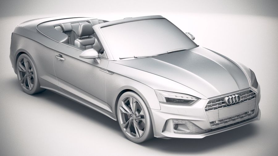 Audi A5 Cabrio 2020 royalty-free 3d model - Preview no. 22