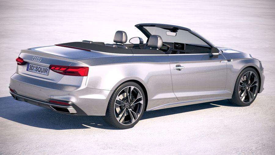 Audi A5 Cabrio 2020 royalty-free 3d model - Preview no. 5
