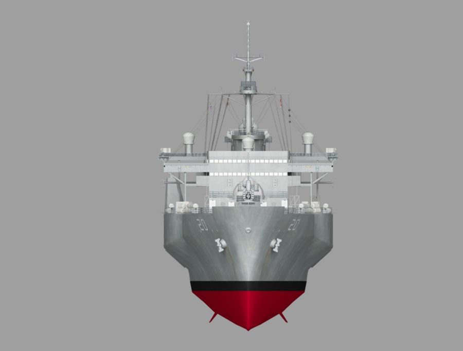 uss 배틀 royalty-free 3d model - Preview no. 2