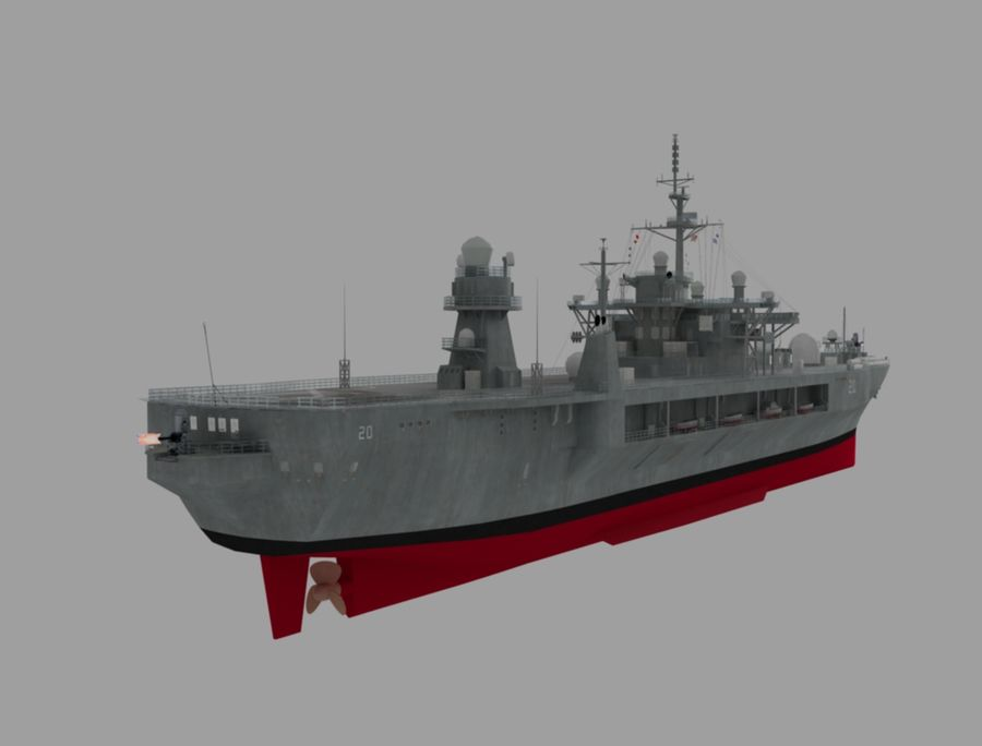 uss 배틀 royalty-free 3d model - Preview no. 5