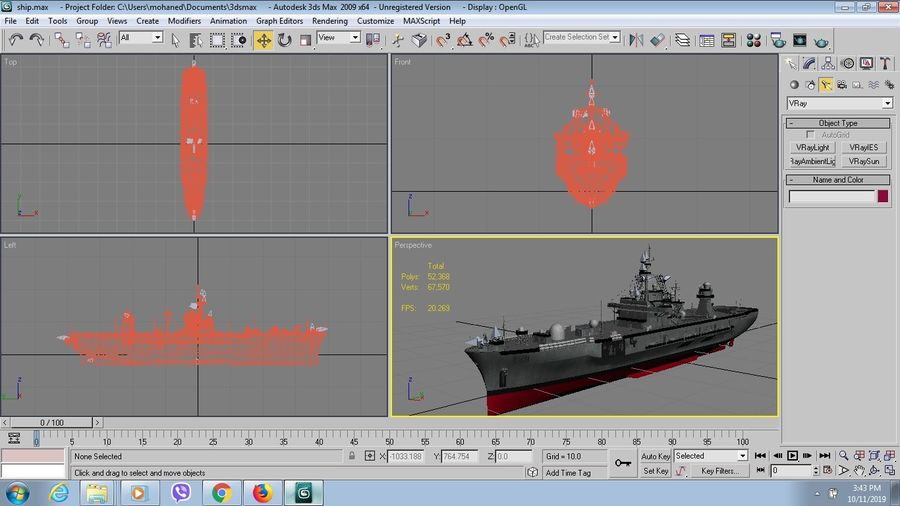 uss 배틀 royalty-free 3d model - Preview no. 7