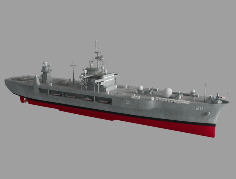 uss 배틀 royalty-free 3d model - Preview no. 3
