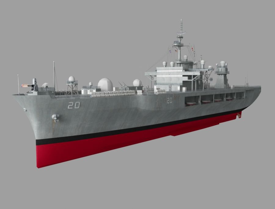 uss 배틀 royalty-free 3d model - Preview no. 1