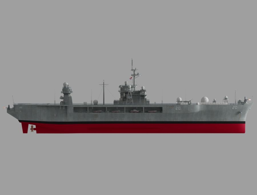 uss 배틀 royalty-free 3d model - Preview no. 4