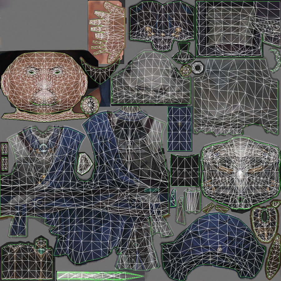 Mittelalterliches China-Zeichen 008 royalty-free 3d model - Preview no. 13