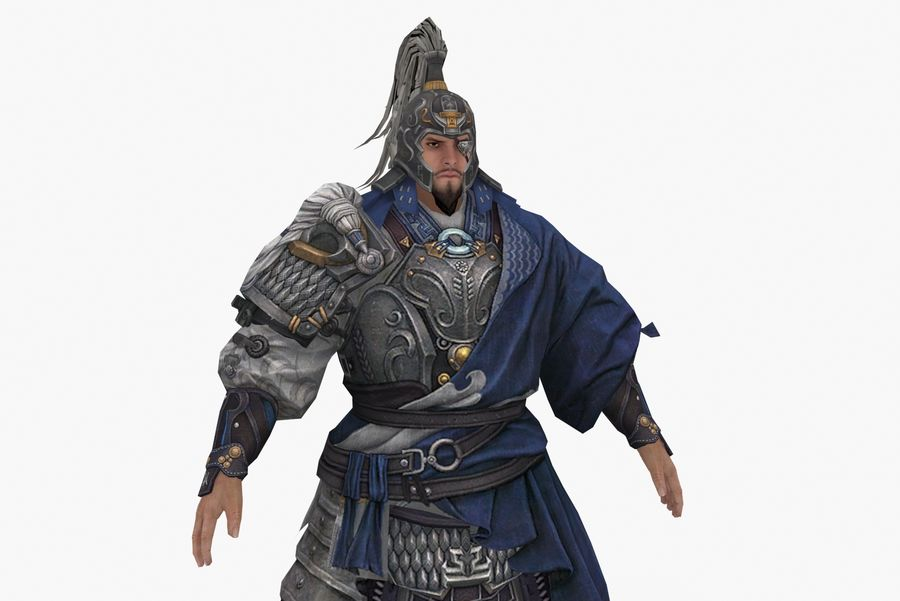 Mittelalterliches China-Zeichen 008 royalty-free 3d model - Preview no. 6