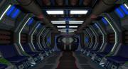 Intérieur de vaisseau spatial Sci fi 3d model