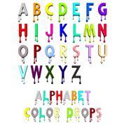 Alphabet Color Drops 3d model
